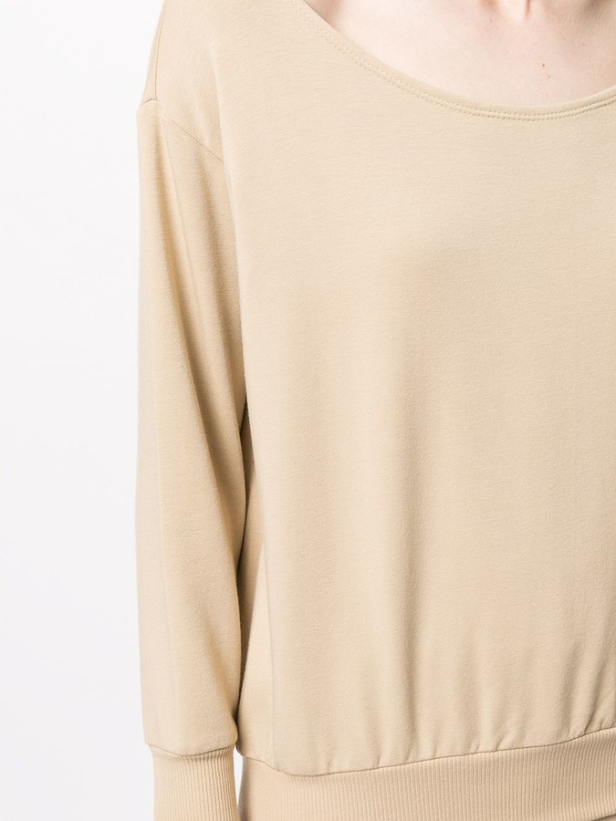 Thumbnail for your product : L'Agence Kimora long-sleeved off-shoulder top