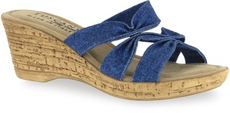 Easy Street Shoes Tuscany by Lauria Women's Wedge Sandals