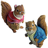 Toscano Design 2 Piece Grandparent Squirrel Garden Statue Set