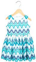 Helena Girls' Patterned A-Line Dress