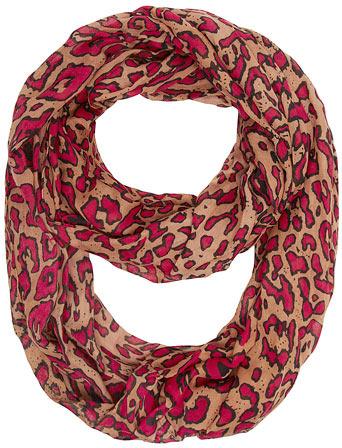 Dorothy Perkins Red leopard print snood