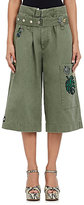 Marc Jacobs Women's Embellished Chino Gaucho Pants-GREEN