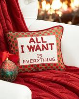 "Sudha Pennathur ""All I want is everything"" Christmas Pillow"