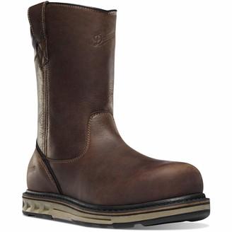 """Danner Steel Yard Wellington 11"""" Brown Hot St Wedge Work Boot 7.5 W US"""