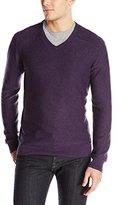 Calvin Klein Jeans Men's 12GG Slub V-neck Sweater