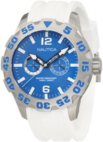 Nautica Men's Sport N16612G White Resin Quartz Watch with Dial