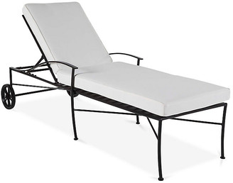 One Kings Lane Kendal Chaise - Black/White