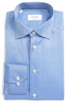 Eton Men's Contemporary Fit Herringbone Dress Shirt