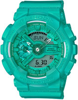 G-Shock Women's Analog-Digital S-Series Teal Resin Strap Watch 46x49mm GMAS110VC-3A