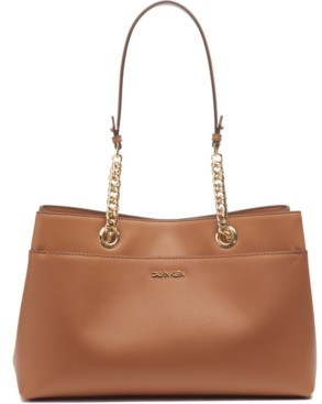 Calvin Klein Leather Chained Satchel