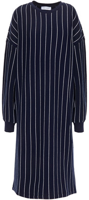 Ninety Percent Striped Organic Cotton-terry Midi Dress