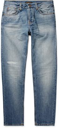Nudie Jeans Steady Eddie Ii Tapered Distressed Organic Denim Jeans