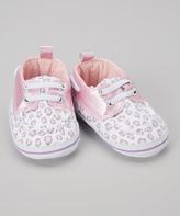 Luvable Friends Pink Leopard Boat Shoe