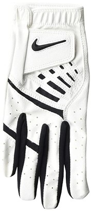 Nike Dura Feel IX Regular Right Hand Golf Gloves (Big Kids) (Pearl White/Black/Black) Athletic Sports Equipment