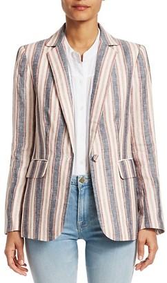 Frame Classic Striped Linen Blazer