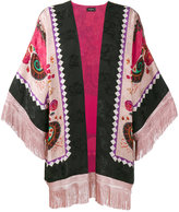 Etro fringed printed kimono jacket - women - Silk/Acetate - One Size