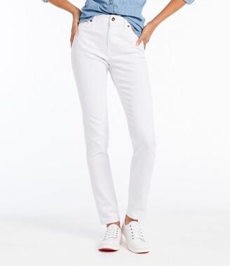 L.L. Bean Women's True Shape Jeans, Classic Skinny Colored Denim