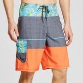 Ocean Current Men's Flamingo Colorblock Board Shorts Green