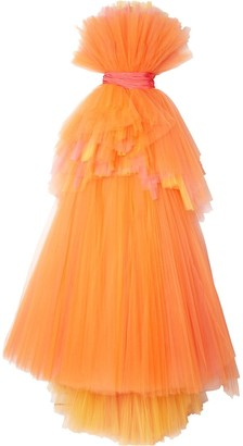 Carolina Herrera Bow-Detail Tulle Gown