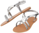 Crazy 8 Metallic Braid Sandals