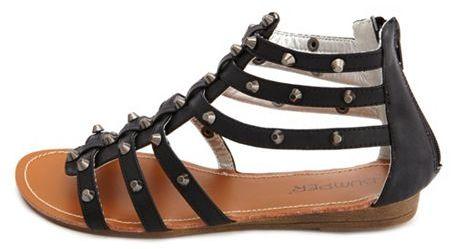 Charlotte Russe Studded Gladiator Wedge Sandal