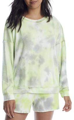 Free People Kelly Lime Washed Knit Pajama Set
