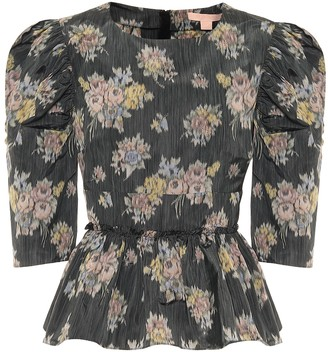 Brock Collection Qualita floral peplum blouse