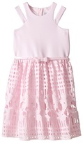 Us Angels Scuba & Lace Sleeveless Cut Away w/ Full Skirt (Big Kids)