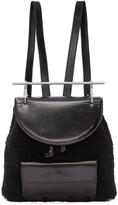 M2Malletier Black Shearling Backpack