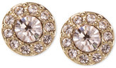 Givenchy Gold-Tone Crystal Stud Earrings