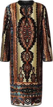 Etro Metallic Printed Devore-velvet Dress
