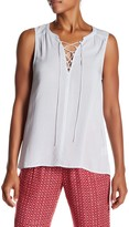 Velvet by Graham & Spencer Leonna Lace-Up Sleeveless Tank