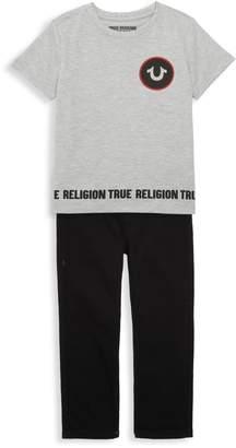 True Religion Little Boy's 2-Piece Tee & Pants Set