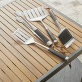 Crate & Barrel Wood Handled Grill Tools Set Of Four