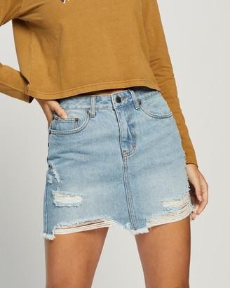Rusty Trashed Back Denim Skirt