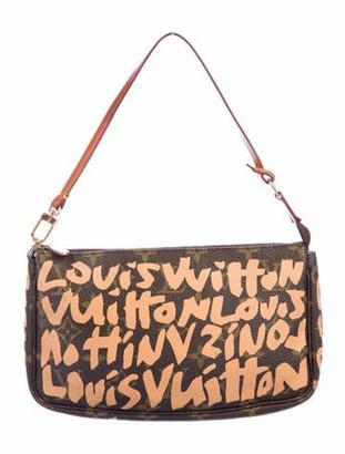 Louis Vuitton Monogram Graffiti Pochette Accessoires Brown