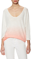 Free People Linen Ombre V-Neck Tee