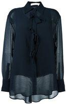 See by Chloe bow appliqué sheer shirt