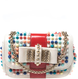 Christian Louboutin Multicolor Leather Mini Spiked Sweet Charity Crossbody Bag