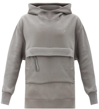 adidas by Stella McCartney Oversized Cotton-blend Hooded Sweatshirt - Dark Grey