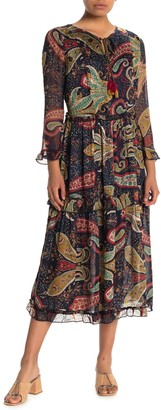 Velvet by Graham & Spencer Paisley Printed Midi Dress
