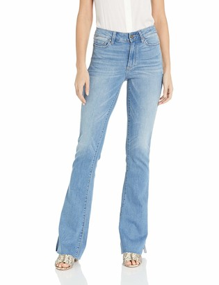 Paige Women's High Rise Lou w/Piping + Outseam Slit