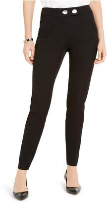 Alfani Ornamental-Button Skinny Pants