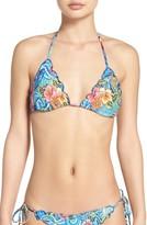 Luli Fama Women's Crystallized Triangle Bikini Top