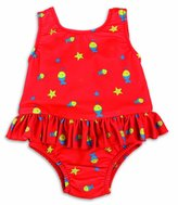 MIO Bambino Nappy Swimsuits, Red Fish, 27-34 Lbs