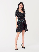Diane von Furstenberg Tinsley Crepe de Chine Mini Dress