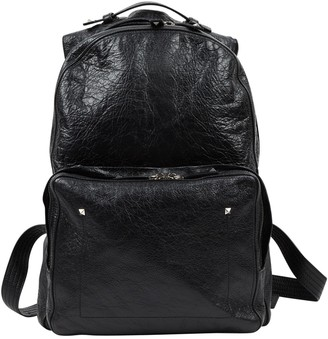 Valentino Black Leather Backpacks