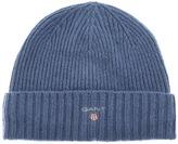 Gant Fleece Lined Beanie Hat Blue