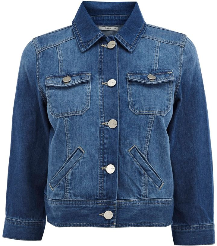 Oasis Women's Cropped denim jacket