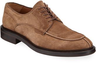 Aquatalia Men's Grady Weatherproof Suede Lace-Up Shoes